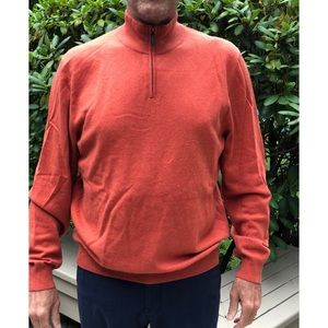 Cashmere Half-Zip Sweater in Orange - XL
